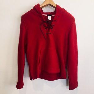 J. Crew 100% Virgin Wool Sweater Hoodie L